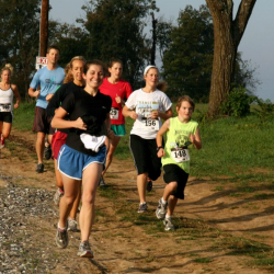A group of runners in the 5k Race for Relief.