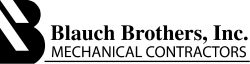 The logo for Blauch Brothers Mechanical Contractors.